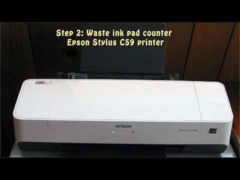 How to Reset Waste Ink Pad Counter Epson C-90 - смотреть онлайн на