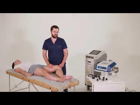 Видео курс УВТ. Тендинит гусиной лапки приводящих мышц бедра (коленного сустава).