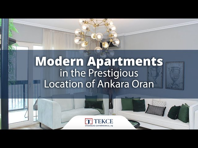 Brand-New Apartments with Valley View in Ankara Oran