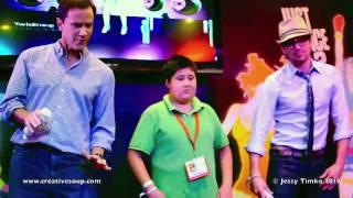 White Collar's Matt Bomer (Neal Caffrey) & Tim DeKay dancing to 'Tik Tok' by Ke$ha at Comic Con 2010