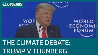 Trump v Thunberg as two deliver contrasting climate change messages at Davos | ITV News