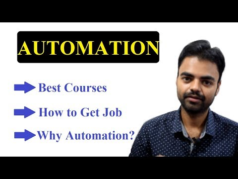 How to Get Job in Automation Industry, Best Courses for Automation, Automation Testing