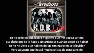 Aventura - Controversia (lyric - letra)