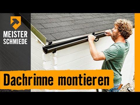 Dachrinne montieren | HORNBACH Meisterschmiede
