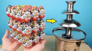 What if you make a chocolate fountain out of 36 Kinder Surprises?