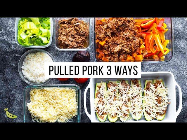 3 Dinners, 1 Hour of Effort | Pulled Pork Meal Prep Plan