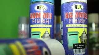Краска молотковая BOSNY 520мл, 300гр, аэрозольная от компании Мир Очистителей - видео