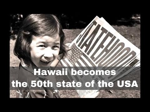 21st August 1959: Hawaii becomes the 50th state of the USA