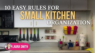 10 Easy Rules for Small Kitchen Organization   No Pantry? No Problem!