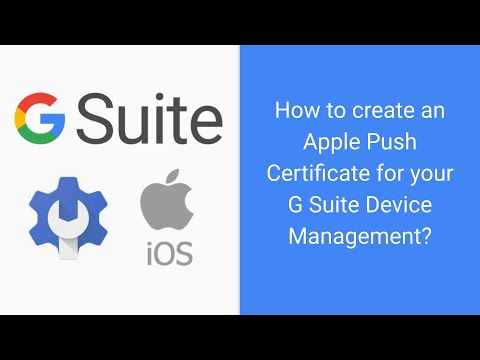 Apple Push Certificate in Google G Suite Updated - YouTube