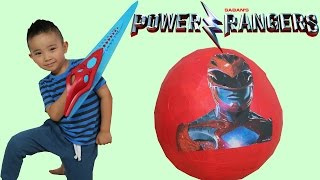 New Power Rangers Movie 2017 Toys Unboxing Giant Surprise Egg Opening Fun Ckn Toys