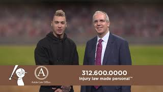 Chicago Cubs Javier Baez in a commercial for Ankin Law Office