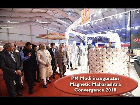 PM Modi inaugurates Magnetic Maharashtra Convergence 2018