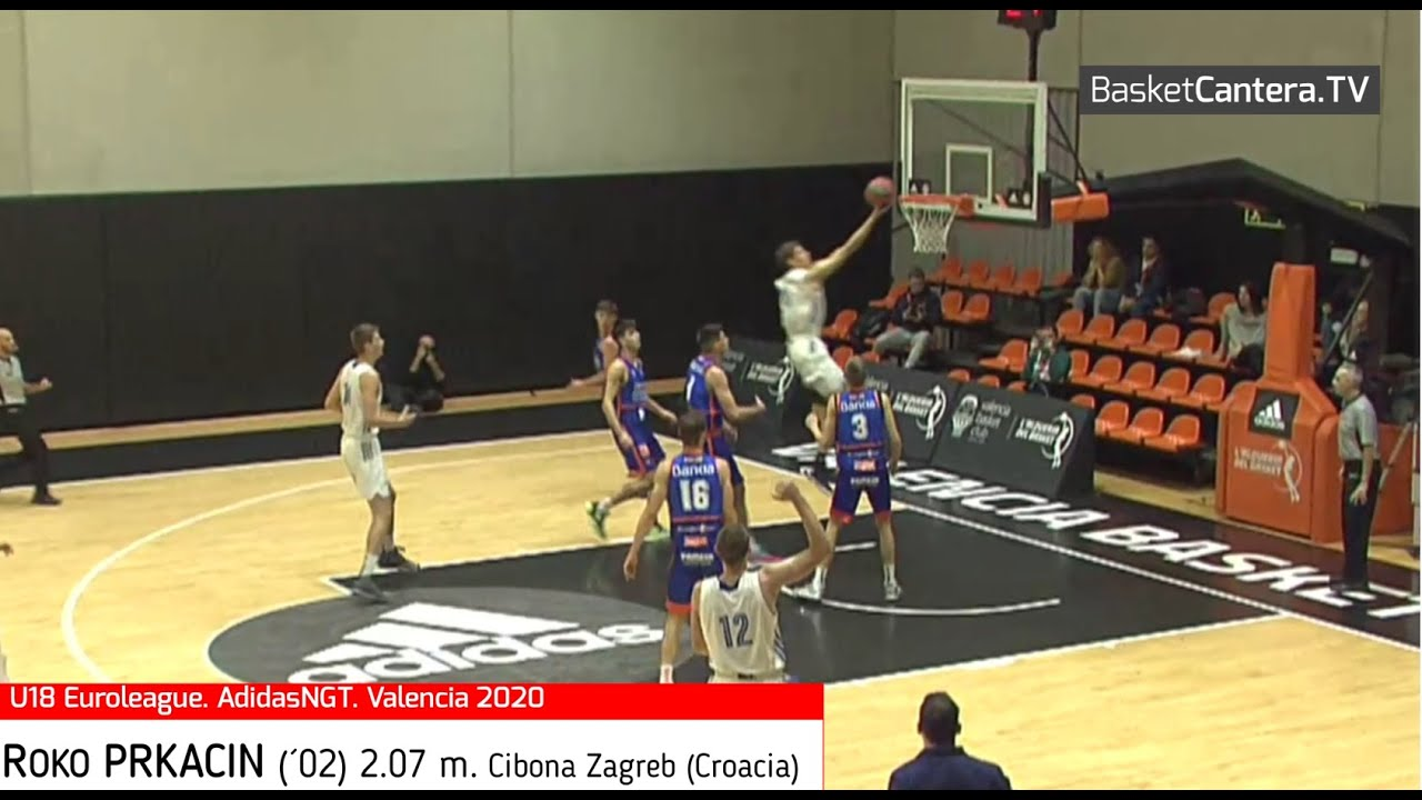 ROKO PRKACIN (´02) 2.07 m. Cibona Zagreb. Euroleague ANGT. Valencia 2020. (BasketCantera.TV)