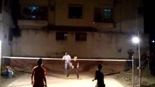 preview picture of video 'Badminton at Bangladesh, Dhaka, Banasree (January 26, 2015) 03'
