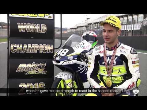 Interview Lorenzo Dalla Porta as Moto3™ Junior World Champion 2016