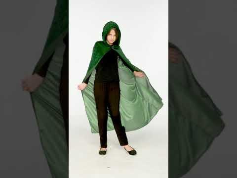 Mystischer Samt Umhang grün | dressforfun