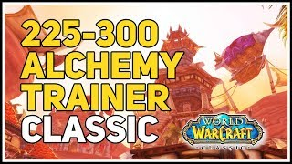 225-300 Alchemy Trainer Location WoW Classic Horde