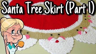 Santa Christmas Tree Skirt - Crochet Tutorial - PART 1