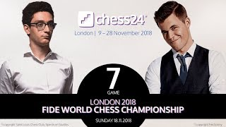 Carlsen-Caruana Game 7 - 2018 FIDE World Chess Championship