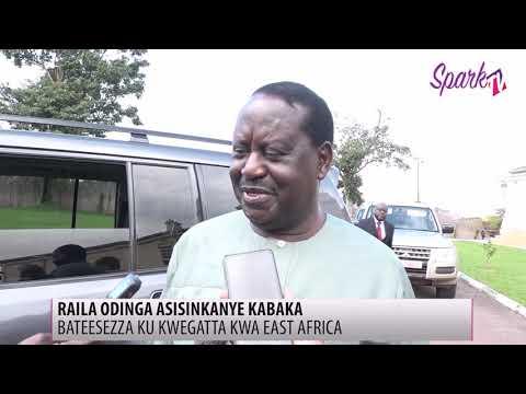 Kabaka asisinkanye munywanyi we Raila Odinga ow'e Kenya