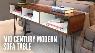 Build a Mid-Century Modern Sofa Table