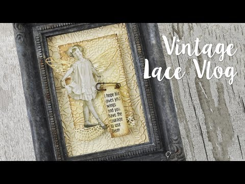 Using intricate lace to create vintage projects! - Pete Hughes