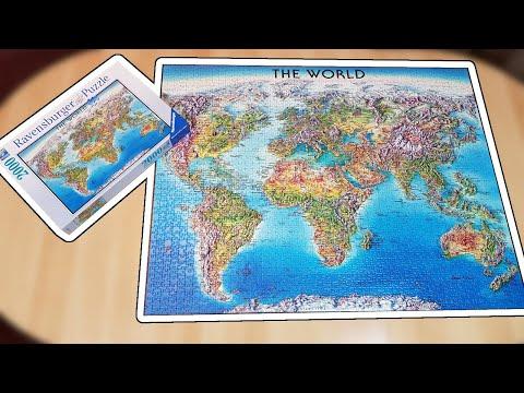 Ravensburger puzzle 2000 - World map (Timelapse)