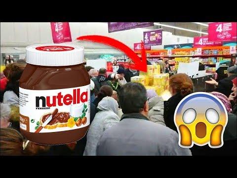 У Франції розпродажі шоколадної пасти Nutella наприкінці січня призвели до бійок між покупцями