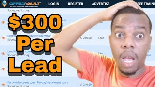 Affiliate Marketing Platform I Used To Make $300 Every day | Offervault review | paid traffic method