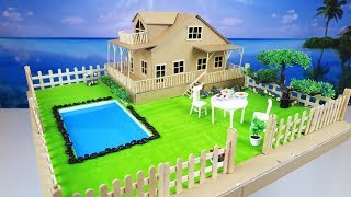 How To Make A Beautiful House From Cardboard - Dreamhouse - Project For Kids #3