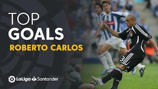 TOP 25 GOALS Roberto Carlos in LaLiga Santander