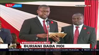 Former President Moi\'s grandson Clint Kiprono Moi pays tribute