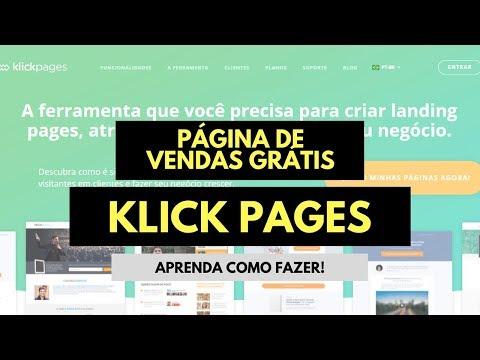 KlickPages | Como Criar uma Página de Vendas GRÁTIS na Klick Pages