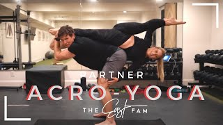 """romantic"" couples acro yoga | the east fam"