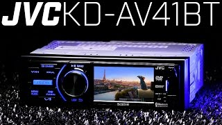 """JVC KD-AV41BT Single DIN DVD Bluetooth Receiver - Must See 3"""" Display!!!"""