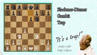 Blackmar Diemer Gambit Chess Trap (Checkmate Your Opponent!)