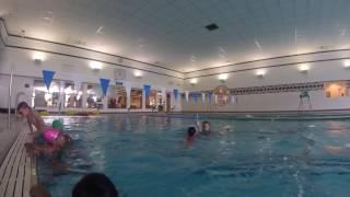 "Aniya swim class YMCA ""TOUCHING BOTTOM"""