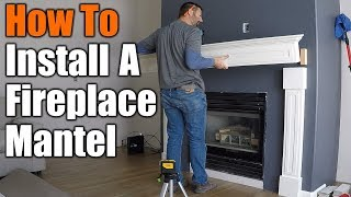 How To Install A fireplace Mantel | THE HANDYMAN |