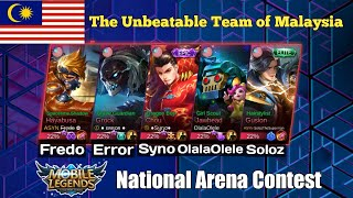 Five beasts one team : Fredo, Soloz, Syno, Olalaolele and Error playing together | Arena Contest