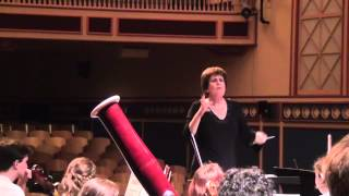 Beth Cohen conducting dress rehearsal Stevens Orchestra (part one)