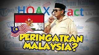 Hoax or Fact: Prabowo Beri Peringatan Keras kepada Malaysia Terkait Penghinaan Lagu Indonesia Raya?