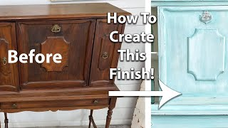French Country Blended Paint Technique | Painted Furniture DIY