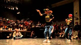JUSTE DEBOUT JAPON 2013【HIPHOP SEMIFINAL】KENTO&CANDOO vs RUSH BALL