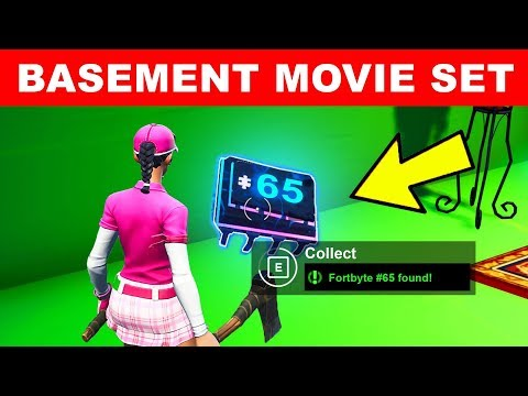 Found in a Basement Budget Movie Set - Fortnite Fortbyte #65 Location Guide