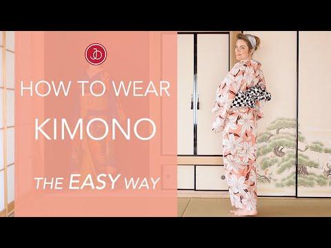 How To Wear Kimono - The EASY Way