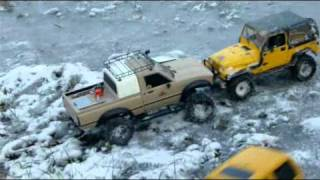 preview picture of video 'First snow RC expedition - Praha-Haje - 27.11.2010'