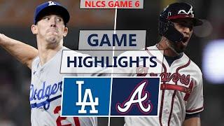 Los Angeles Dodgers vs. Atlanta Braves Highlights | NLCS Game 6 (2021)