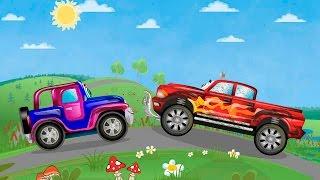 Мультфильмы для детей про машинки Джипик и Внедорожник. Автомойка машин