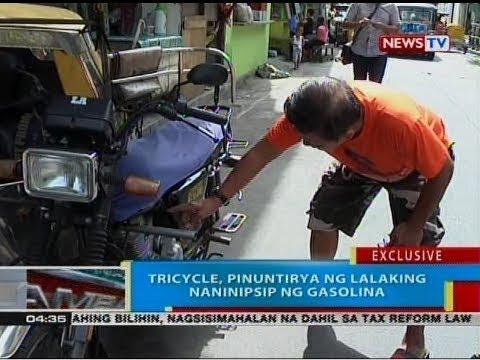 BP: Tricycle, pinuntirya ng lalaking naninipsip ng gasolina